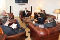 Patrick de La Lanne, Axel Jahnz und Heidi Naujoks im Redaktionsgespräch